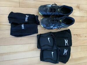 Volleyball gear (shoes, knee pads, socks)