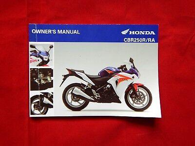 GENUINE 2010 HONDA CBR250R CBR 250 RA CBR250 R OWNERS MANUAL 32KYJD00 2011