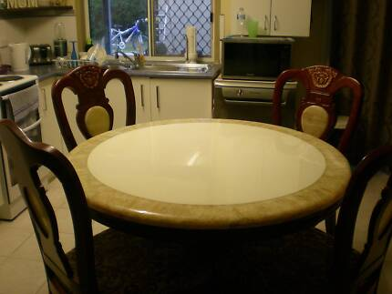 4 Seat Marble Top Dining Suite Table And Chairs