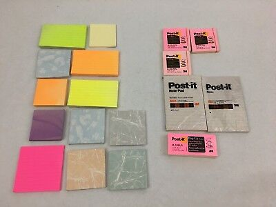 Lot Of 18 Post-it Pop-up Super Sticky Notes Verity Used And New Pads