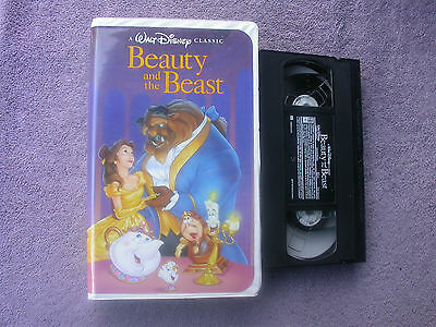 Walt Disney Classic Beauty and the Beast (VHS) Rare Black Diamond Case.