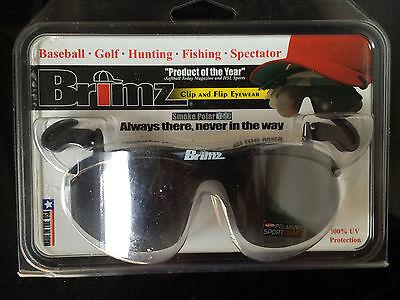 Brimz Clip and Flip Polarized Sunglasses Clip-On Shades Bangerz NEW sports hat