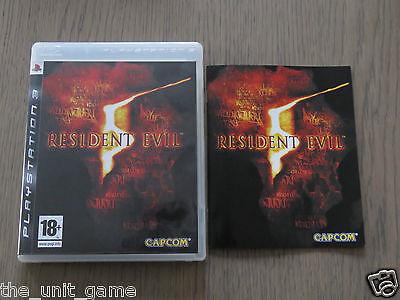 PLAYSTATION 3 PS3   RESIDENT EVIL 5  COMPLET EN FRANCAIS