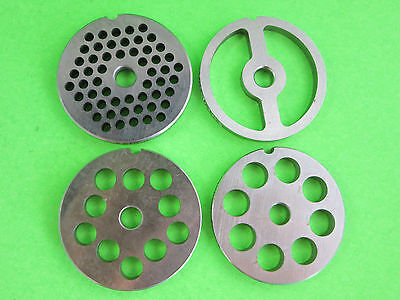 5 Combo 4 Grinding Plates For Electric Or Manual Meat Grinder Fits Lem Etc.