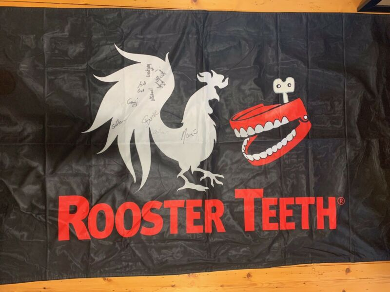 SIGNED Rooster Teeth Flag