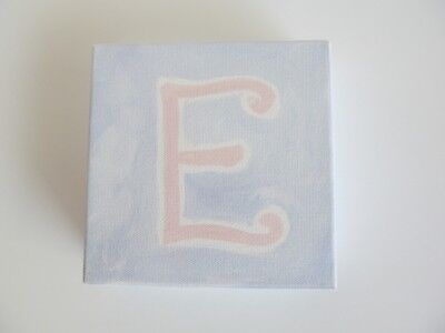 POTTERY BARN KIDS Canvas Wood Block Letter Initial