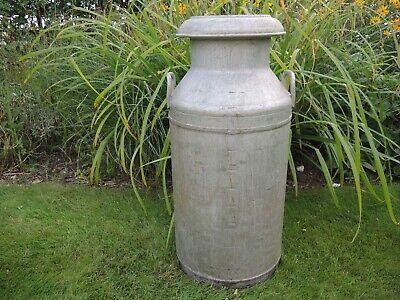 Vintage 10 Gallon Alloy Milk Churn Garden Planter   (802)