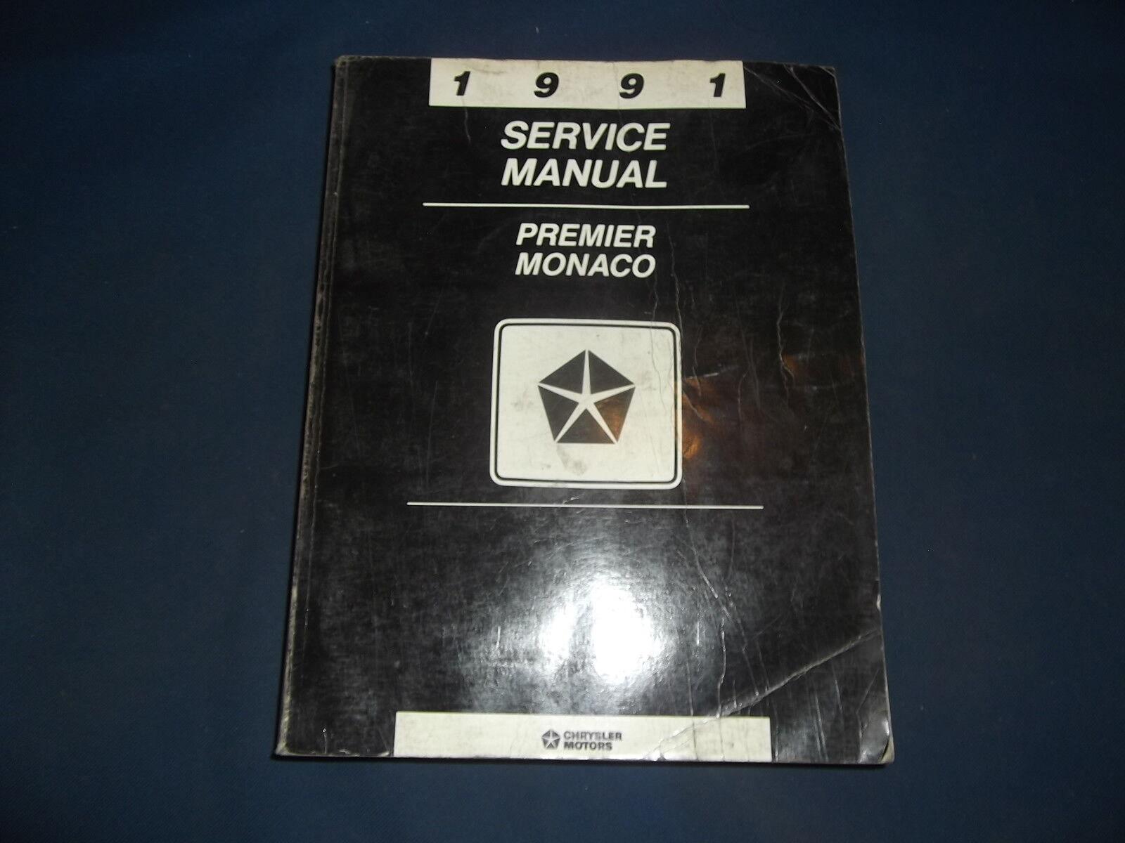 1991 DODGE PREMIER MONACO SERVICE SHOP REPAIR MANUAL FACTORY