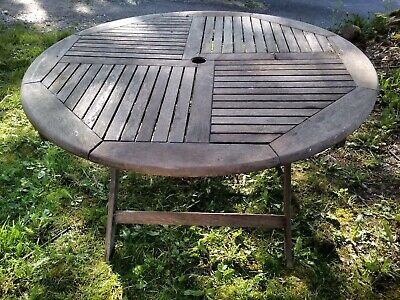 Large 4 ft X 3ft 3 high wooden Garden Patio Table