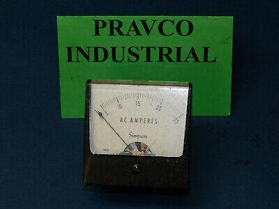 Simpson 1257 Panel Meter Gauge 0-25 Ac Amperes