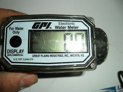 Gpi 01n31gm Electronic Water Meter Buy It Now 1