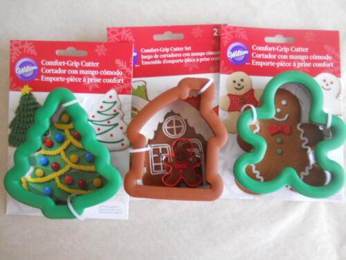 WILTON-Lot of 3 Comfort-Grip Cookie Cutters W7097, W2310604, W2310602