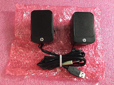NEW HP Multimedia Computer Speakers 630797-001 USB Powered Desktop Laptop Music