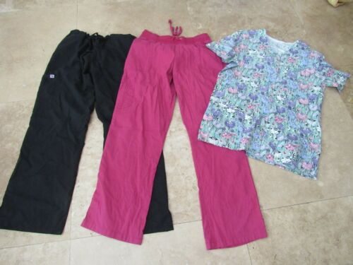 Lot, 3 womens size L,large scrubs, pants, top, Peaches