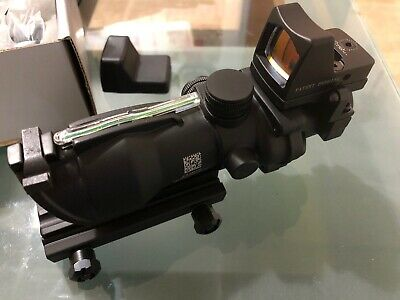 Acog 4X32 Style Green Dot Sight With Red Dot Real Fibre Optic
