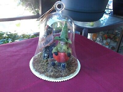 RARE VINTAGE BETHANY LOWE HALLOWEEN CLOCHE GLASSED DECORATION