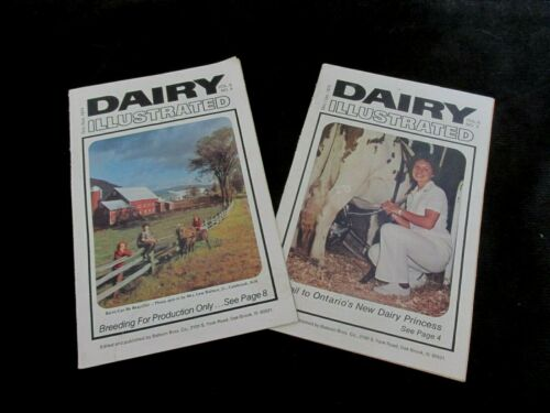 "2 PCS DAIRY ILLUSTRATED 1974 & 1975 BOOKLETS 5 1/2"" X 8 1/2"""