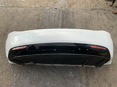 2018 TESLA MODEL S REAR BUMPER COMPLETE WITH PARKING SENSORS WHITE