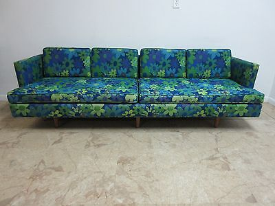 8ft Vintage Mid Century Mastercraft Low Slung Sofa Couch Danish Modern