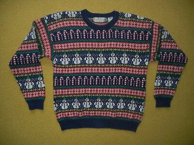 NORTHERN ISLES Snowman CHRISTMAS SWEATER Warm Winter Size Women