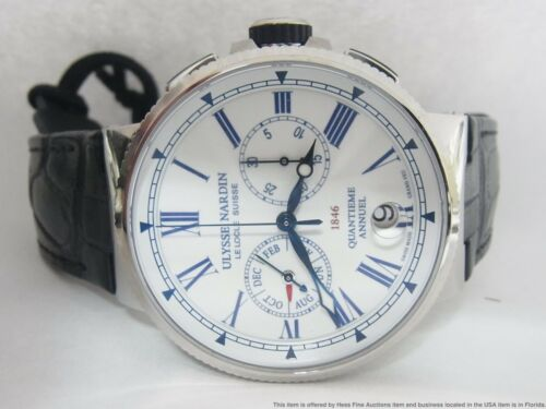 New Ulysse Nardin Marine Chronograph Annual Calendar 43mm 1533-150/e0 $14500 - watch picture 1
