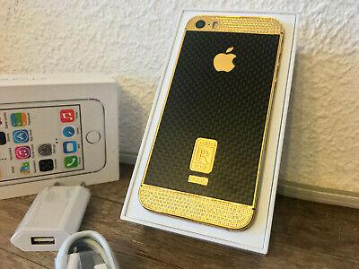 Apple iPhone 5S 64GB 24K vergoldet Gold Schwarz Kristallen comprar usado  Enviando para Brazil