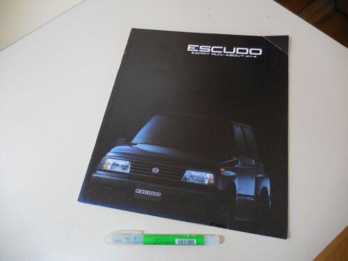 SUZUKI ESCUDO Japanese Brochure 1988/09 TA01 Vitara Geo Tracker