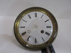 Antique French Porcelain Mantel Clock Dial complete with bezel and glass