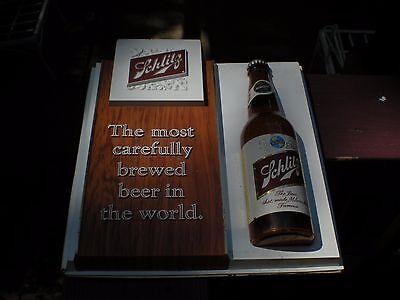 VINTAGE 1966 SCHLITZ BEER BOTTLE BAR PUB  BEER SIGN  MILWAUKEE  WISCONSIN