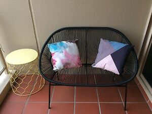 MOVING SALE - Outdoor Lounge Chair & Arm Chair w/ 2 x side tables Rozelle Leichhardt Area Preview