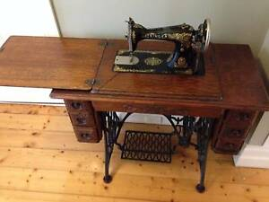 Antique Treadle Singer Sewing Machine Geelong West Geelong City Preview