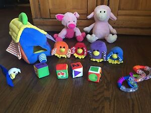 Assorted baby toys/stuffies