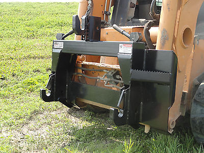 Skid Steer Loader Quick Attach Mount Plate To Category 1 - 3 Point Adapter