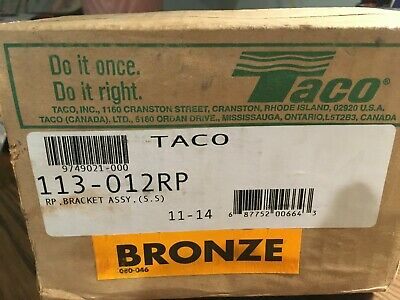Taco Bracket Assembly - Bronze - 113-012rp - For 113 Circulator Pumps New In Box