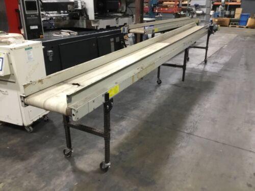 EMI DDF-18-20-20 Adjustable Smooth Flat Belt Conveyor 20 Ft. 115V #470BK