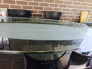 Glass dining table with 4 chairs Seven Hills Blacktown Area Preview