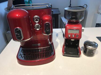 Kitchenaid Coffee Machine and Breville Coffee Grinder