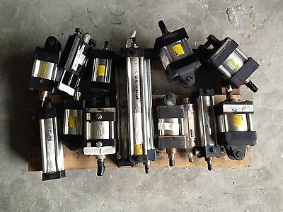 Lot Of 15 New And Used Parker Pneumatic Cylinders