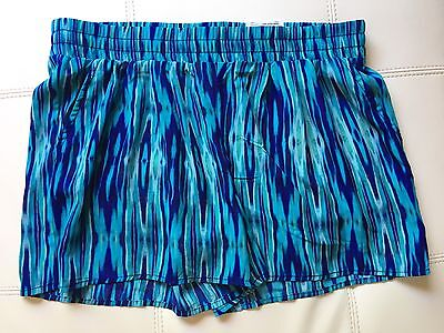 Nwt Jcp Jcpenny Womens A N A  Casual Shorts Blue Ikat Watercolor Size M