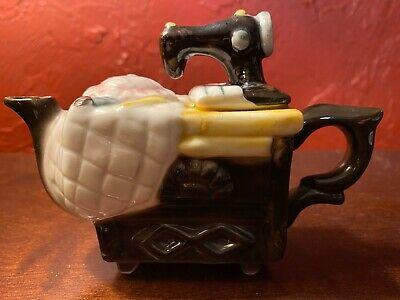 """Vintage Mini Teapot Figurine Home Kitchen Decor Unique Design About 4"""""""