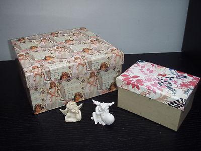 schenkebox -Geschenk Karton Box + 2 kleine Engel (Klein Weihnachten Geschenk-boxen)