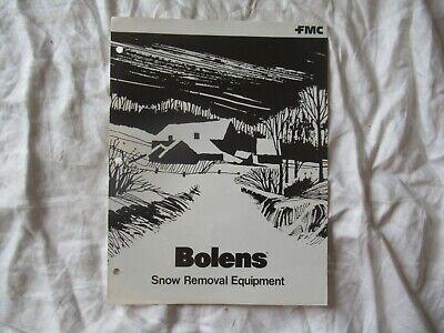 1977 Bolens Snow Removal Equipment Brochure