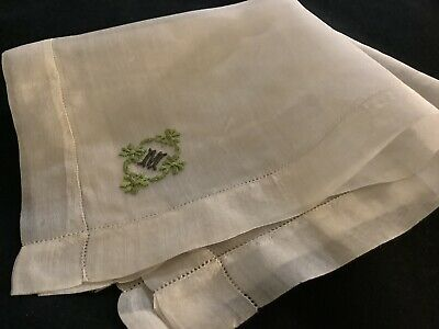 Vintage Monogram Embroidered /& Appliqued  Lot of 5 Cotton Handkerchiefs New  B