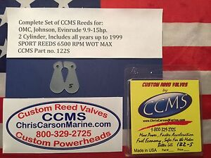 CCMS OMC Johnson Evinrude Sport Outboard Reed Valves 9.9-15hp 2 Cylinder  PN122S