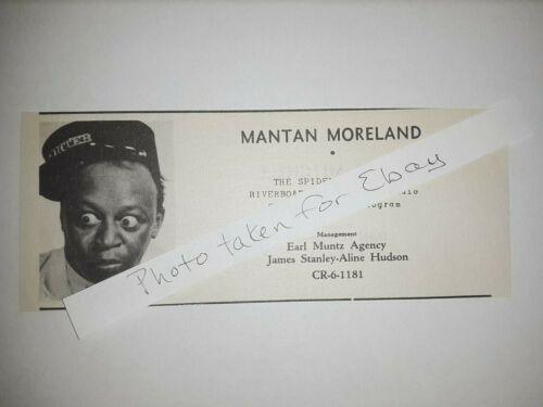 Mantan Moreland Original 1940s actors casting ad