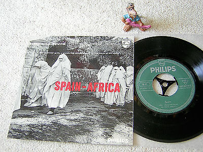 """SPAIN - AFRICA Song And Sound The World Around NL 7""""EP+PS PHILIPS 427 007 NE"""