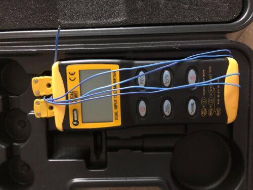 Digital Dual Input Thermometer Mannix Model DT8852