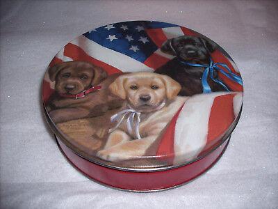 Patriotic Dogs Tin Music Box - Born Free