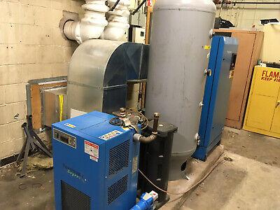 25hp Hydrovane Hv18 Air Compressor System W Dryer Receiving Tank Oil Separator