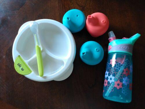 Baby toddler suction bowl contigo straw cup boon silicone sippy lid set
